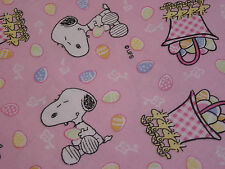 "Peanuts Snoopy Pink Easter Fabric - Fat Quarter 18"" x 21"""