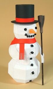 """A4 Card Making Templates """"Frozen Fred"""" 3D Snowman +Display Box by Card Carousel"""