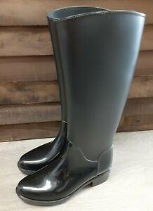"SAM EDELMAN Sydney Womens Black Tall Rain Boots Size 7 M Waterproof 15"""