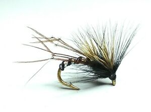 4 V Fly Size 12 Super Red Pearl Claret Hopper Trout Flies