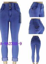 La Bonita colombian medium blue ankle levanta cola 10'' high waist skinny jean