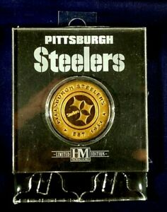 The Highland Mint Limited Edition Pittsburgh Steelers Medallion Coin w/Stand