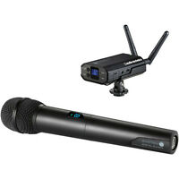 Audio-Technica ATW-1702 System 10 Camera-Mount Wireless Mic System &Handheld Mic