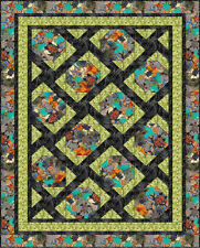 "Sea Turtle Migration Quilt Kit 52 x 70"" Pattern Fabric Quilt Top Binding Backing"