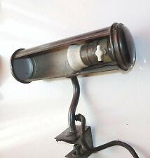 Art Deco Klemmlampe Leselampe Bürolampe Messing 1920er 1930er Vintage Loft !