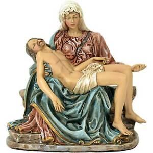 Colorierte christliche Figur Pieta 14x13cm nach Michelangelo