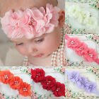 New Baby Kids Girl Chiffon Flower Headband Elastic Hairband Hair Accessories