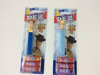 New Pez Toy Story 4 -  Woody and Bo Peep Pez Dispensers & 3 candy rolls ea 2019