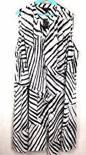 Lane Bryant Dress Women's Black White Zebra Diamond Ruffle Dress Plus Sz 28 New