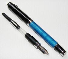 Duke Da Vinci series Fountain Pen Blue Celluloid Iridium M Nib