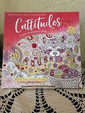 """""""CATTITUDES""""  Pure Purrrfection ADULT COLORING BOOK  """"NEW"""" 4 THE CAT LOVER!!!!"""