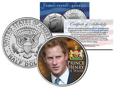 PRINCE HARRY * HENRY OF WALES * Colorized JFK Half Dollar Coin U.S. Legal Tender