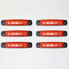 6x 12v LED Rojo Bombilla Posición Indicador Intermitente Lateral
