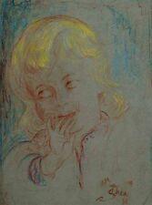 """Im Louvre Paris  """"Thea Schleusner 1879-1964""""-Kinder-Kopfstudie-International  xx"""