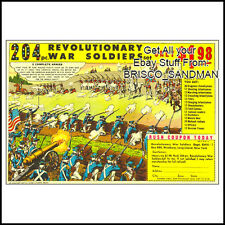 "Fridge Fun Refrigerator Magnet ""REVOLUTIONARY WAR SOLDIERS"" RETRO COMIC BOOK AD"