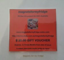 FRIDGE MAGNETS GIFT VOUCHERS FOR BIRTHDAYS / ALL OCCASIONS