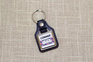 Commer FC Van Keyring - Leatherette and Chrome Van / Camper Auto Keytag