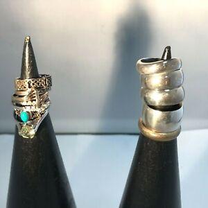 Silver Hallmarked rings x 12 Bundle 53.G Wedding Bands Gemstone Jewellery 291039