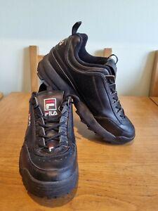 FILA Disruptor II 2 Sneakers Casual  Size UK9  Black sport mid top shoes