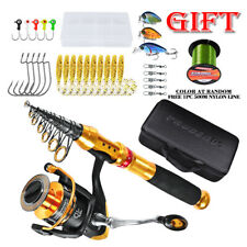 Saltwater Telescopic Travel Fishing Rod Spinning Reel Lures Accessories Combo
