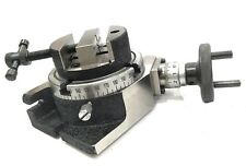 """INDEXING 4""""100 MM ROTARY TABLE HORIZONTAL VERTICAL+ T NUT BOLTS+80 MM ROUND VICE"""