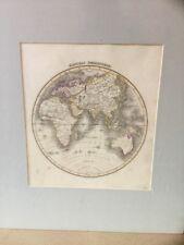 Original Map 1827 EASTERN HEMISPHERE , Wyld's General Atlas, Engraved By Hewitt
