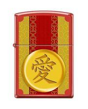 Zippo 1952 Love Chinese Symbol Red Matte Full Size Lighter
