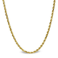 Diamond Cut Rope 14k Gold Necklace - 18 in. - SKU #63544
