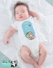 Funny Asian Baby Onesies - Mommy Loves Me Mochi - Baby Shower Gift Pregnancy