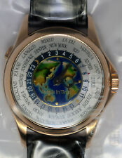 Patek Philippe World Time 18k Rose Gold & Cloisonne New SEALED Mens Watch  5131R