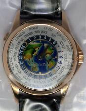 Patek Philippe World Time 18k Rose Gold & Cloisonne New SEALED Mens Watch  5131R