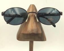Vintage Norma Kamali 7505 Plum Crazy Metal Oval Sunglasses Frames Italy