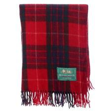 New Scottish Highland Border Tweeds 100% Wool Tartans Rugs in Fraser Red
