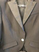 Just Cavalli Womens Long Sleeve Blazer Jacket Black Wool Size IT 46