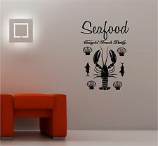 SEAFOOD kitchen vinyl wall art sticker decal DECORATIVE FOOD FISH LOBSTER