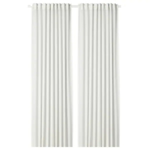 *New* HILJA Curtains, 1 pair, white,145x250 cm 504.308.18 *Brand IKEA*