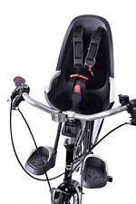 HAMAX CARESS OBSERVER MINI FRONT CHILD BIKE SEAT 15KG MAX KIDDIE GREY/ WHITE