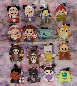 Disney Mystery Pin Collection Wishables Complete Set Of 16 Woody Jessie Goofy