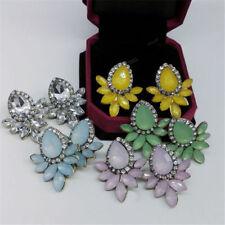 Fashion Women's Earrings Rhinestone Resin Sweet Metal with Gems Ear Stud Earring