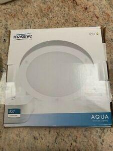 MASSIVE AQUA IP44 BATHROOM LIGHT WHITE 16W 2D LOW ENERGY