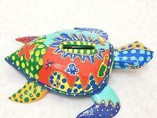 Wooden Batik Turtle Piggy Bank Money Saving Coin Hand Craft&Painted Wood #N1887
