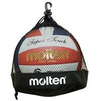 Molten Single Volleyball/ Soccer Ball Bag, Black *New* 1BB