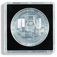 Pack of 5 Square Coin Capsules QUADRUM XL inner diameter 50 mm LTH QUADRUMXL50