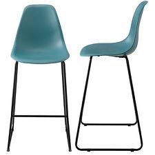 [en.casa]® 2x Tabourets américains 110x46,5cm Turquoise Design Tabouret de Bar