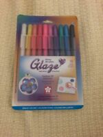 Sakura 10-Piece Glaze Assorted Color 3-Dimensional Glossy Ink PLUS FREE GIFT