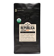 DECAF La Republica Organic Extra Dark Mexican Whole Bean Coffee -Water Processed