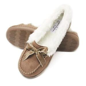 Jessica Simpson Womens Micro Suede Moccasin Indoor, Cinnamon, Size X-Large hdpe