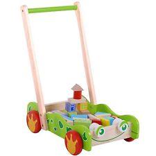 Trotteur Motricité Bois Marchette pour Bébé Voiture de Jeu Construction Enfants