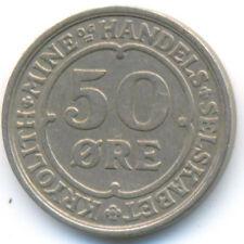 Greenland Ivigtut Cryolite Mining & Trading Company 50 Ore 1922 VF+/XF RARE