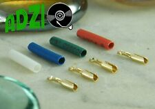♫ 4 Thimbles Gold 24 K with Heatshrink Sleeving Cables Cells ♫
